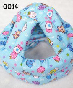 HE0014 หมวกกันน๊อคเด็ก หมวกกันกระแทกเด็ก สีฟ้าลายลูกกวาด (40-53cm)